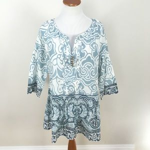 Soft surroundings Cote D'azur Tunic Top NWOT